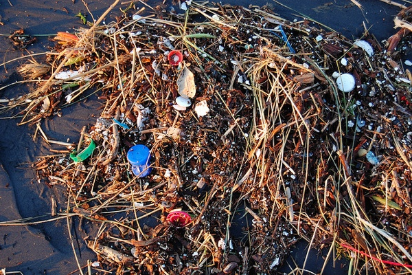 Plastic trash in the ocean- 5 gyres