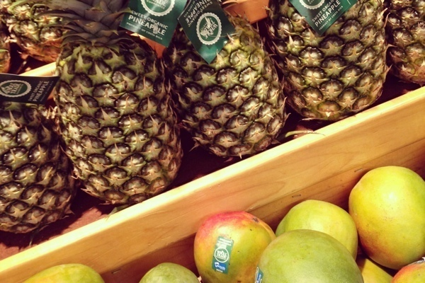 Fair Trade pineapples and mangos