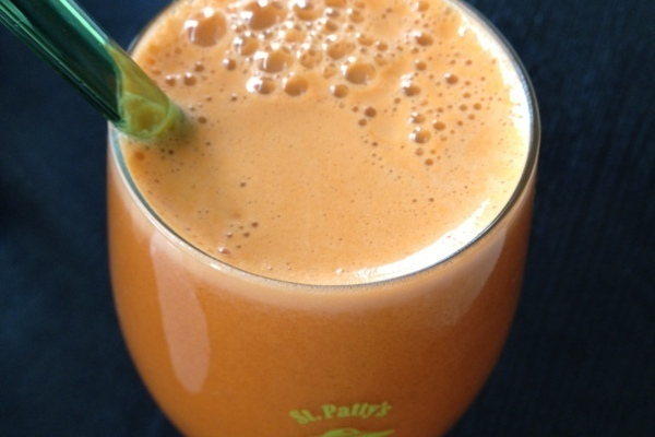 Orange carrot pear juice