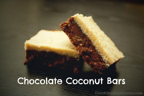 Chocolate Coconut Bars - Good Girl Gone Green