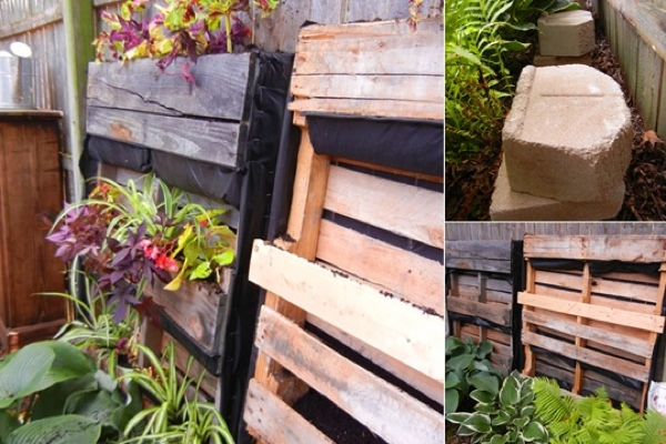 How To Build A Fairy Garden Made From Pallets Logs and Shade