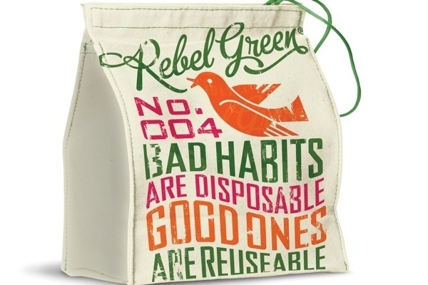 Essential Safe Products Organic Lunch Bag:Good Girl Gone Green