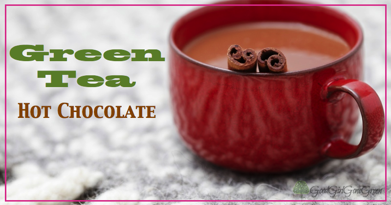 Green Tea Hot Chocolate GoodGirlGoneGreen.com #vegan #paleo #chocolate