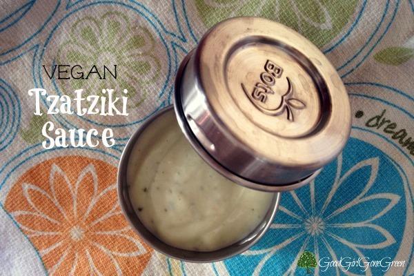 Vegan Tzatziki Sauce #organic #SchoolLunches #dips #vegan