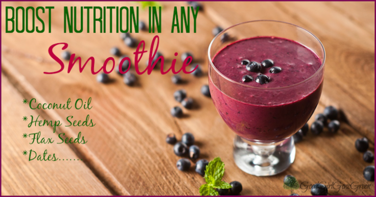 12 Ingredients to Boost Nutrition in any Smoothie GoodGirlGoneGreen.com #smoothie #realfood #vegan #paleo