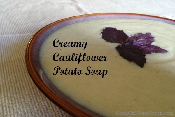 Vegan Cream of Cauliflower Potato Soup