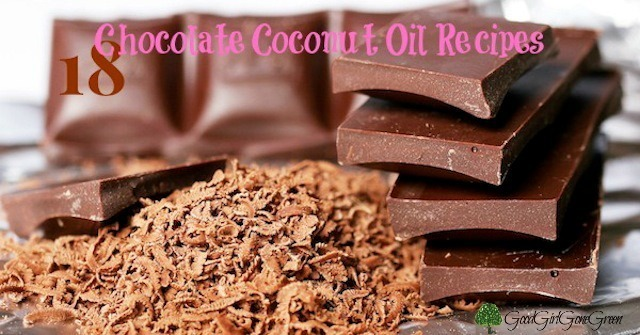 18 Chocolate Coconut Oil Recipes #coconutoil #chocolate GoodGirlGoneGreen.com