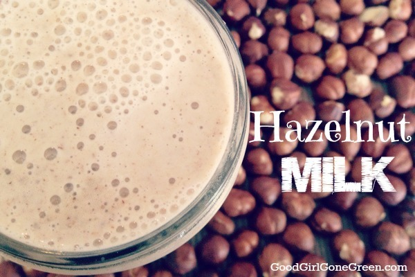 Raw Vegan Hazelnut Milk