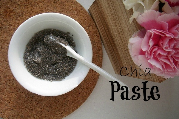 Vegan egg substitution Chia paste