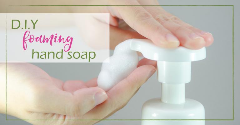 DIY Foaming Hand Soap | GoodGirlGoneGreen.com