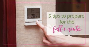 5 tips to prepare for the fall and winter - GoodGirlGoneGreen
