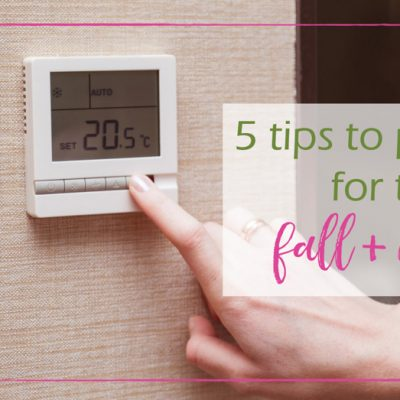 5 Tips to Prepare for the Fall/Winter Months