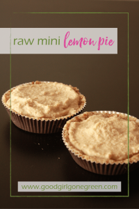 raw mini lemon pie