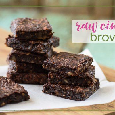 Raw Cinnamon Brownies
