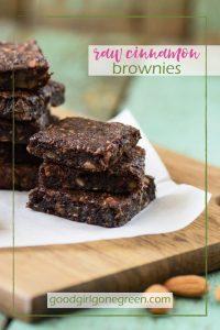 Raw Cinnamon Brownies goodgirlgonegreen