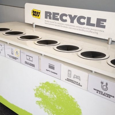Recycling CFL Light Bulbs, Bottle Caps and CDs