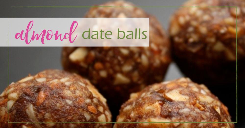 Almond Date Balls - GoodGirlGoneGreen