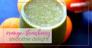 Orange Strawberry Smoothie Delight - GoodGirlGoneGreen