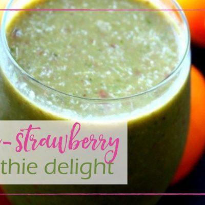 Orange Strawberry Smoothie Delight