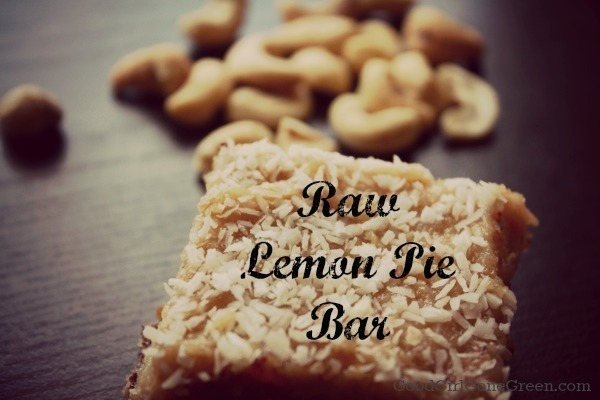 Vegan Raw Lemon Pie Bar