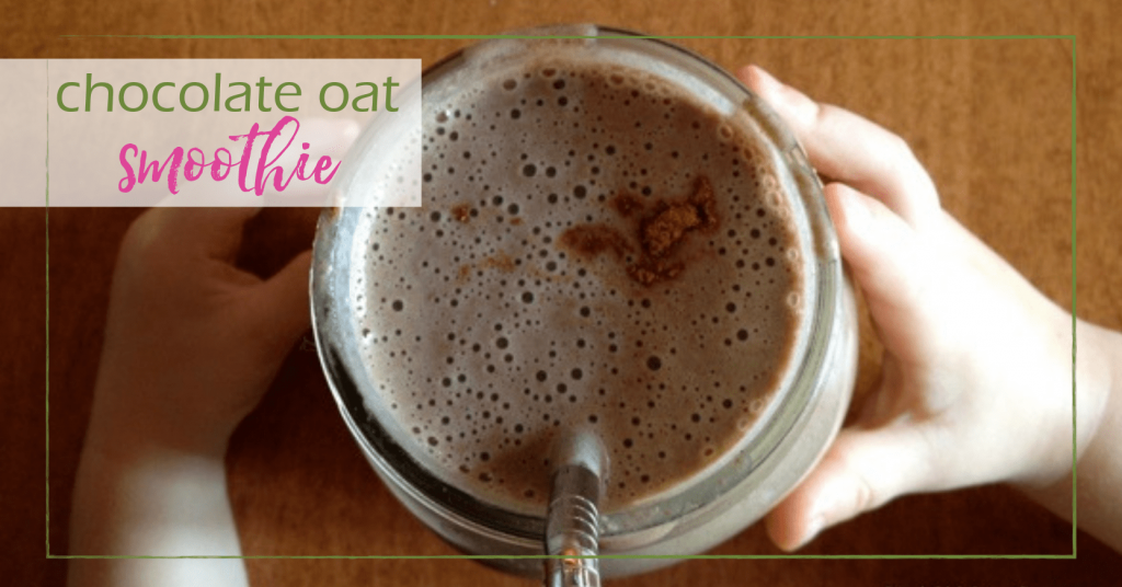chocolate oat smoothie