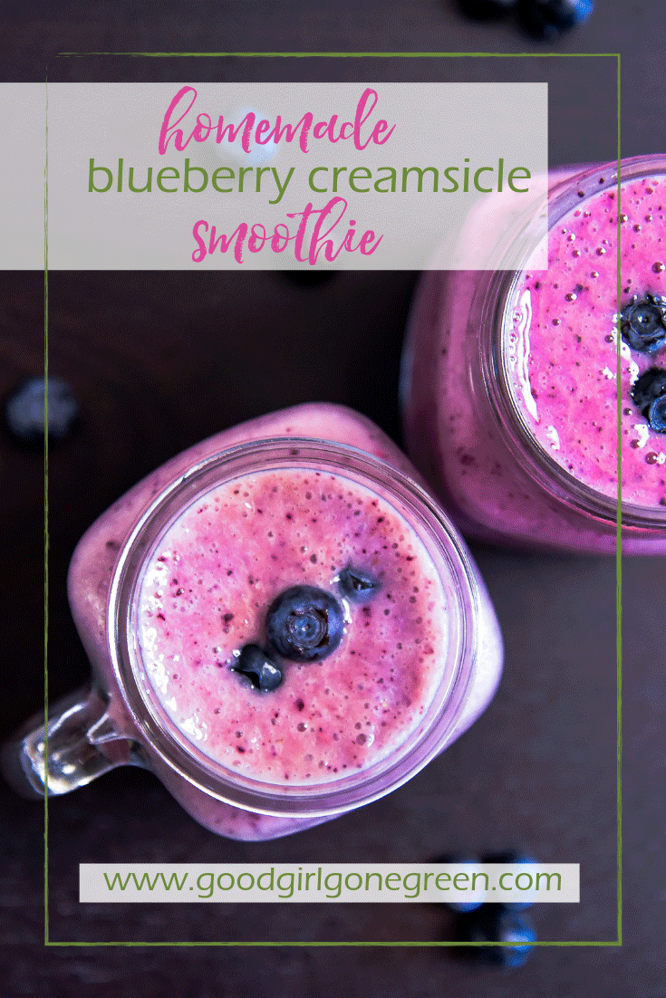 Blueberry Smoothie - Good Girl Gone Green
