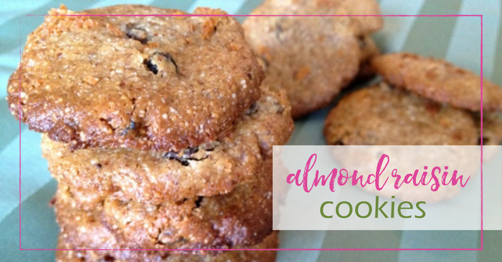 Almond Raisin Cookies | GoodGirlGoneGreen.com