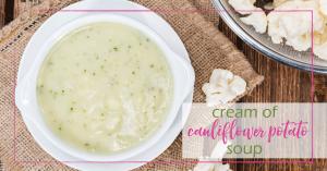 Cauliflower Potato Soup - Good Girl Gone Green