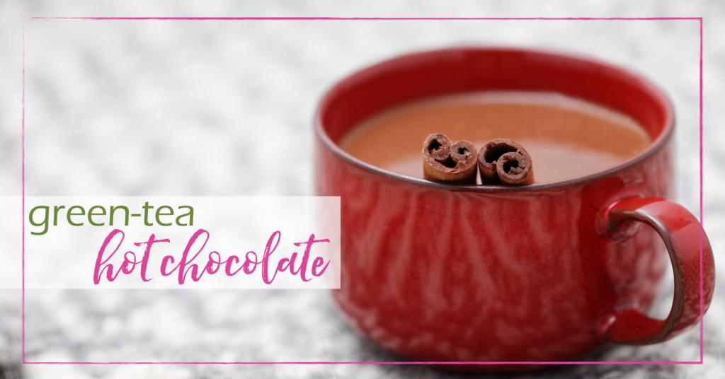 Green Tea Hot Chocolate | GoodGirlGoneGreen.com