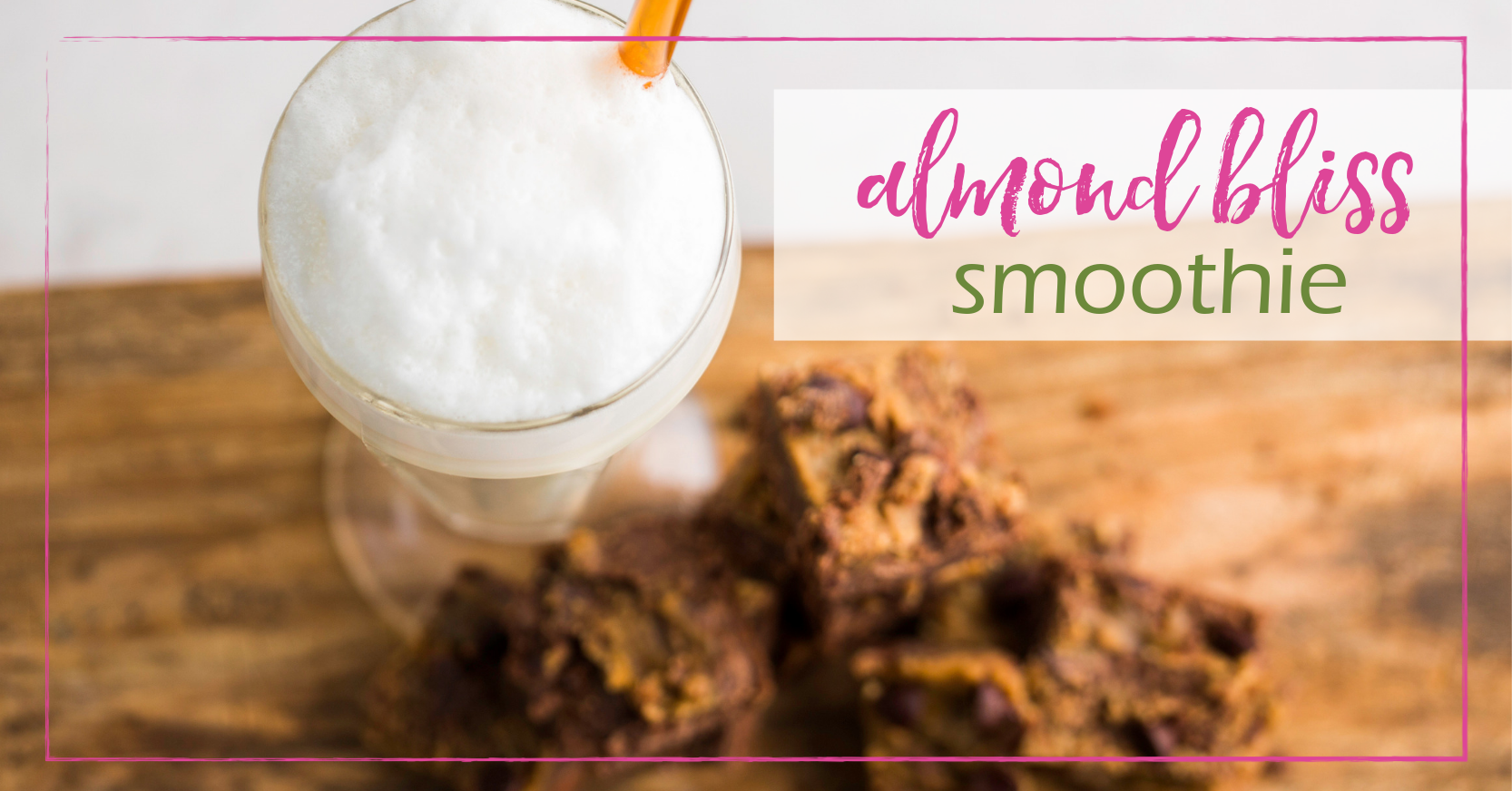Almond Bliss Smoothie | GoodGirlGoneGreen.com