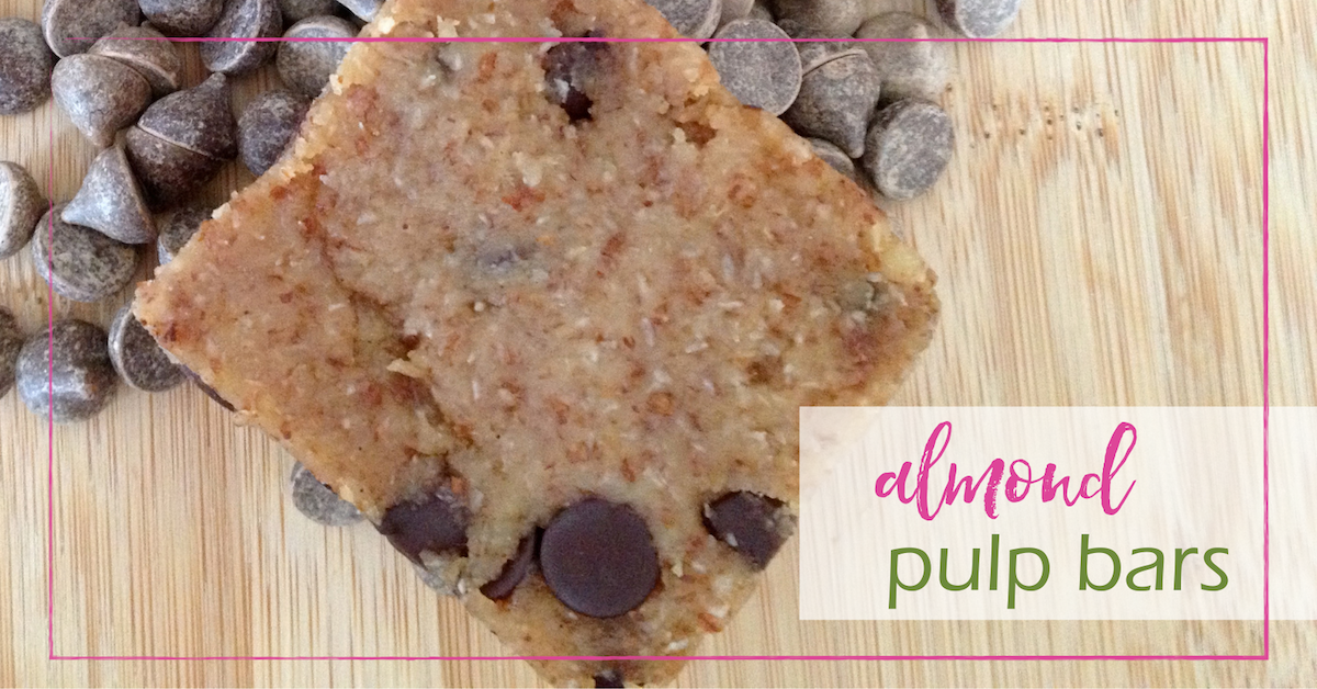 Almond Pulp Bars | GoodGirlGoneGreen.com