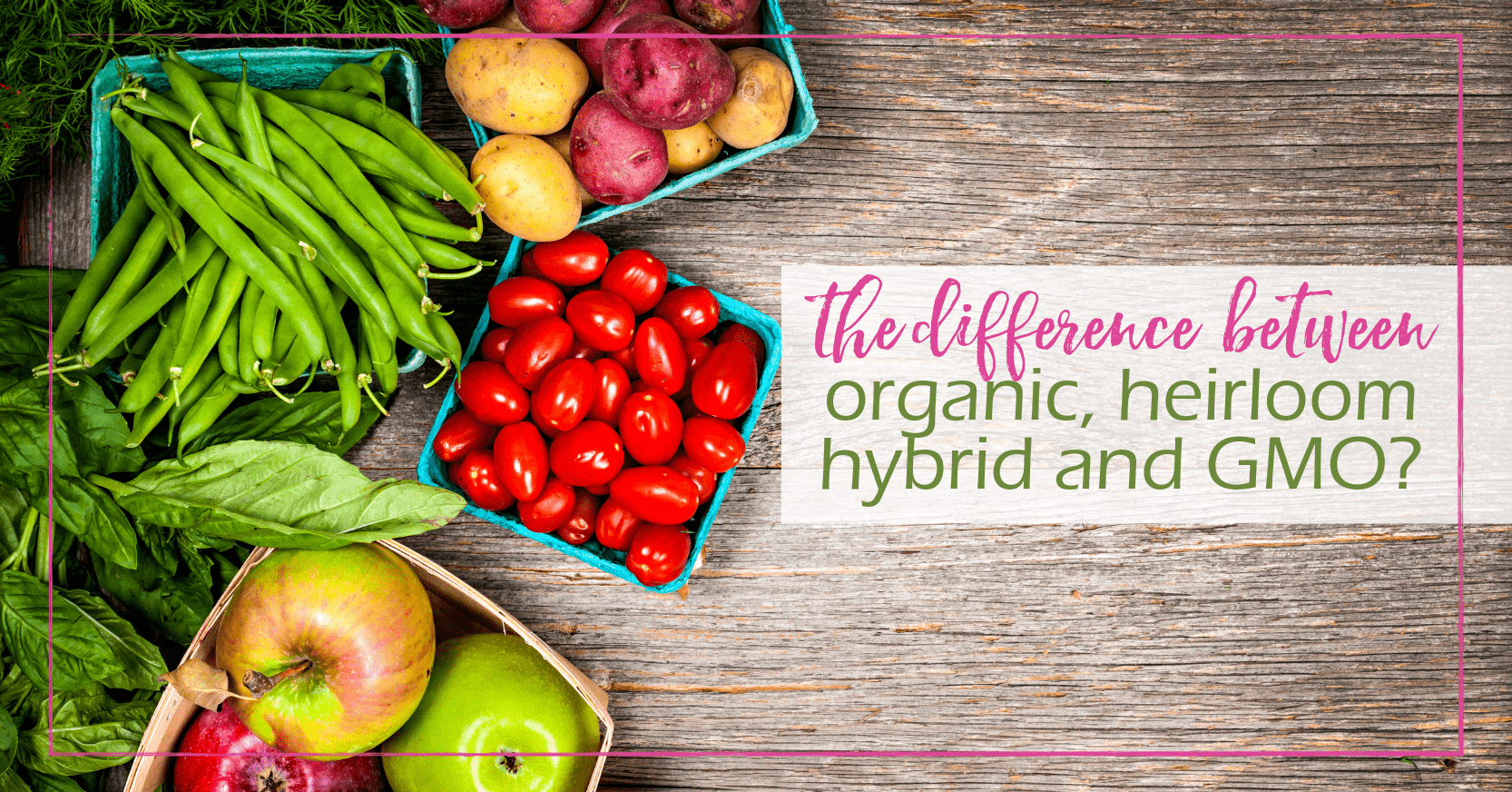 What Is The Difference Between Organic, Heirloom, Hybrid, and GMO? | GoodGirlGoneGreen.com