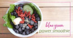 Blue Green Power Smoothie | GoodGirlGoneGreen.com