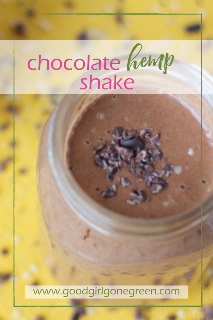 Chocolate Hemp Shake | GoodGirlGoneGreen.com