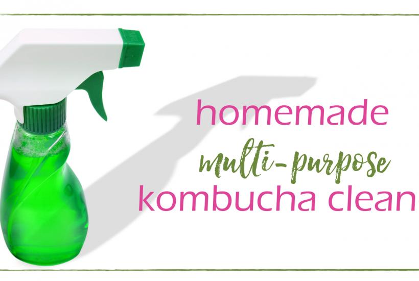 Multi-Purpose Kombucha Cleaner | GoodGirlGoneGreen.com