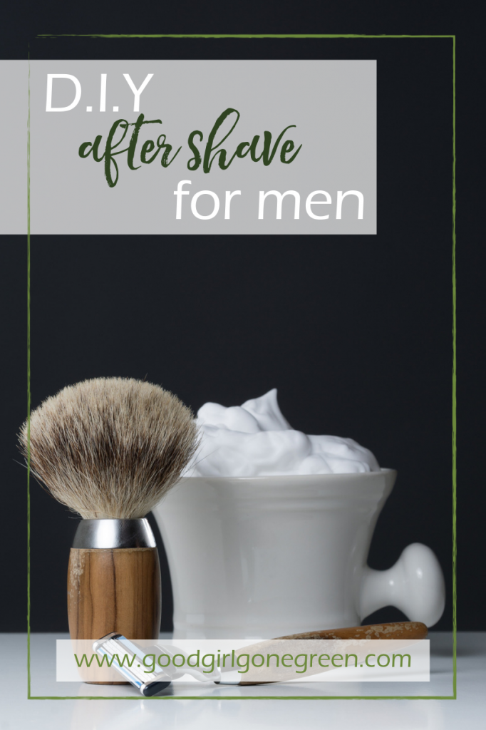 Homemade Aftershave | GoodGirlGoneGreen.com