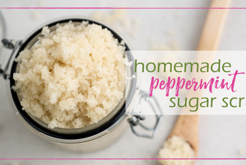 Sugar Scrub Recipe (Peppermint!) | GoodGirlGoneGreen.com