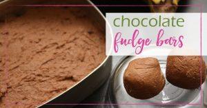 Chocolate Fudge Bars GoodGirlGoneGreen
