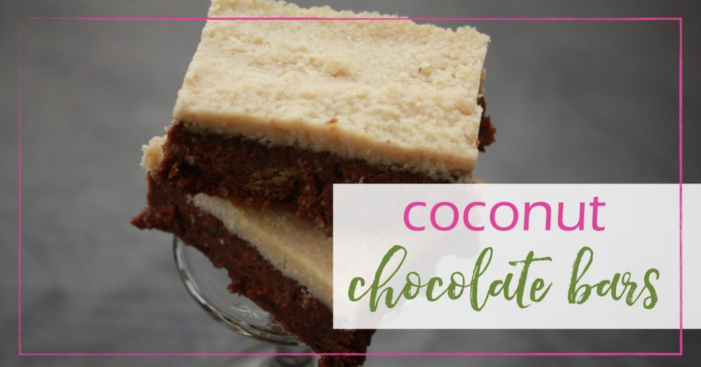 Coconut Chocolate bars GoodGirlGoneGreen