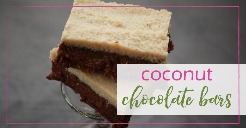 Coconut Chocolate bars GoodGirlGoneGreen