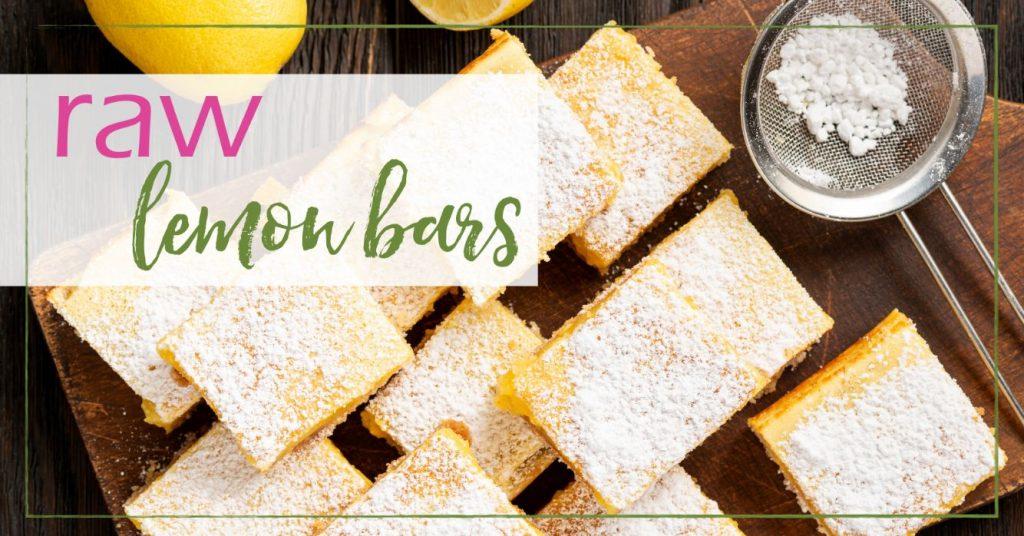 Raw lemon bars GoodGirlGoneGreen