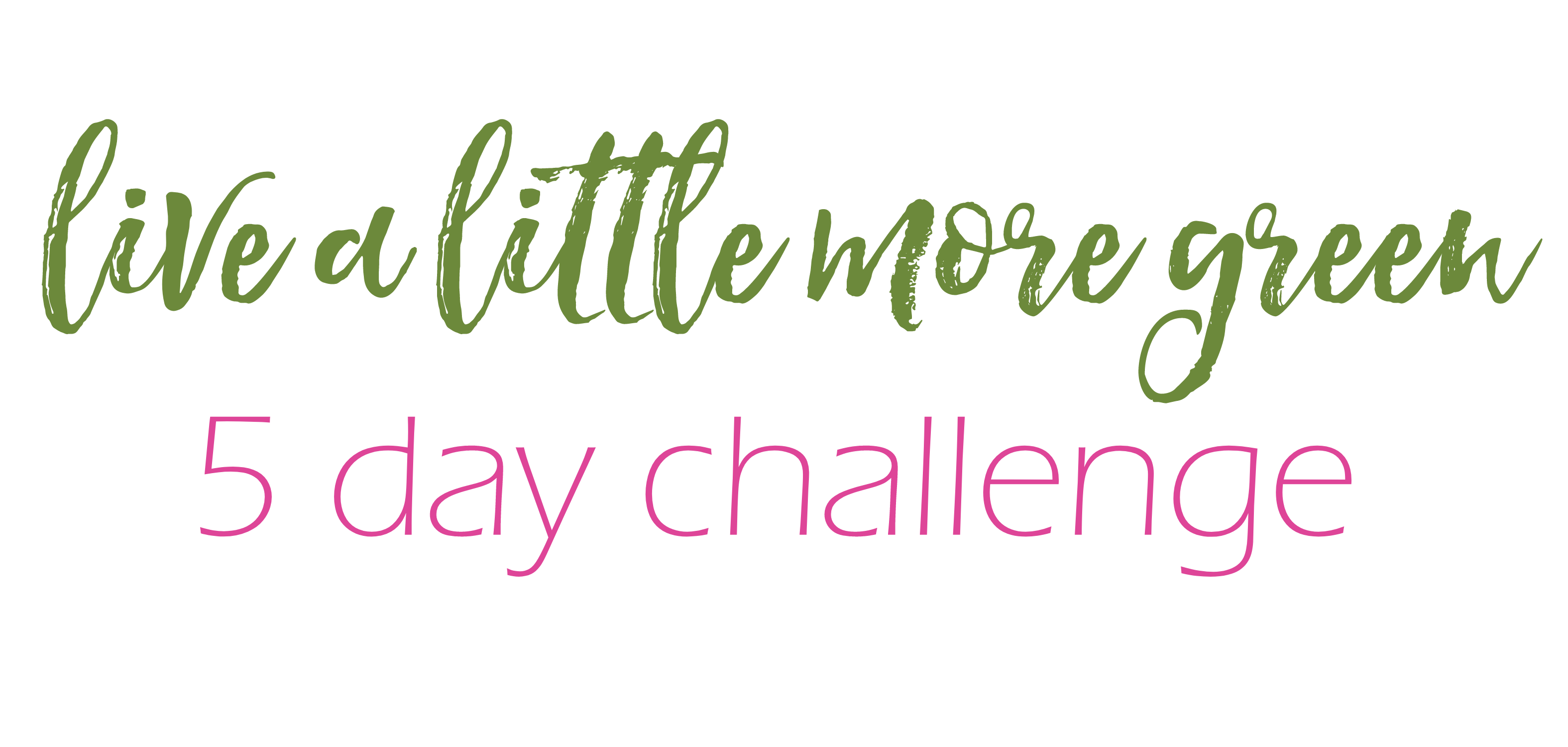 live a little more green challenge